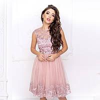 """Коктейльне легке плаття з пишною спідницею """"Мелані"""", фото 1"""