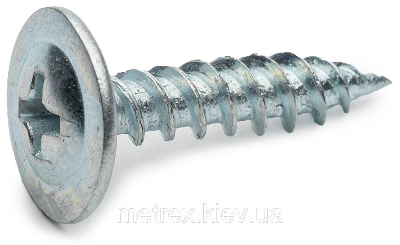 Саморез по металлу 4.8х13 острый с прессшайбой оцинкованный