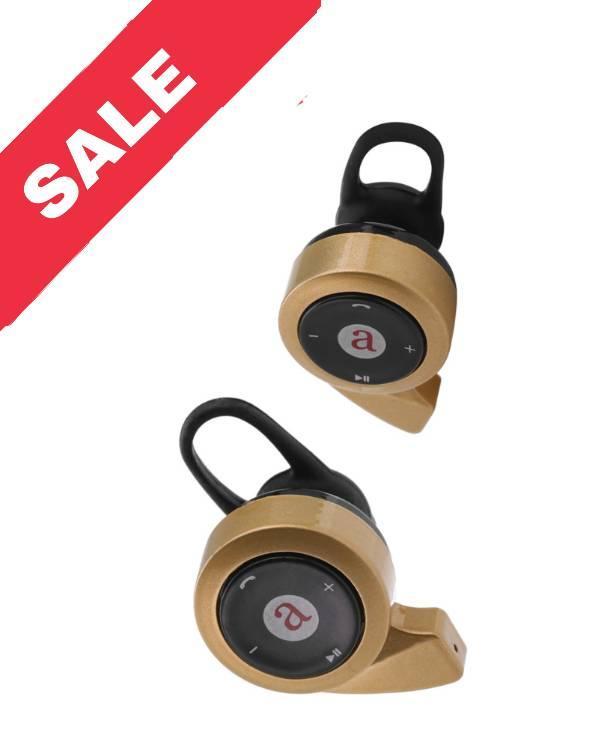 Міні бездротові Bluetooth V4.0 навушники з вушних гачком Aita AT-BT21 Gold