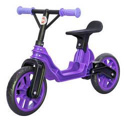Детский беговел Orion 503, фиолетовый, с регулируемым рулем и бесшумными колесами