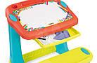 Дитяча парта з дошкою для малювання SMOBY Магічна + 12 аксесуарів, фото 3