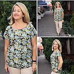 Блуза бирюзовая  из натурального хлопка Бл 007 цвет 4, фото 6