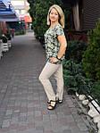 Блуза бирюзовая  из натурального хлопка Бл 007 цвет 4, фото 5