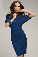 Трикотажне плаття міді футляр, фасон - кажан, з поясом