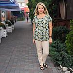 Блуза бирюзовая  из натурального хлопка Бл 007 цвет 4, фото 4