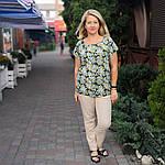 Блуза бирюзовая  из натурального хлопка Бл 007 цвет 4, фото 3