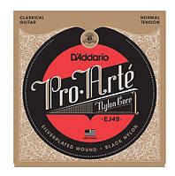 Струны для гитары D'Addario EJ49 Black Nylon Pro-Arte Normal (28-43)