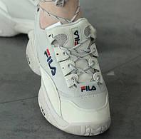 Fila Concours Low 96, Beige | кроссовки женские; белые/,бежевые; осенние/весенние; кожа