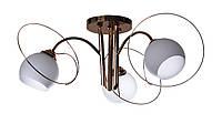 Люстра потолочная на 3 плафона Sunlight ST1155 Золотистый с белым 926013, КОД: 1286710