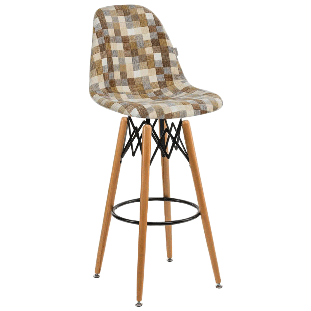 Стул барный Tilia Eos-V сиденье с тканью, ножки буковые COLOURBOX 7801