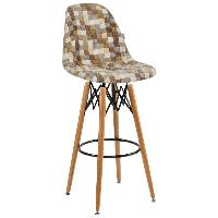 Стул барный Tilia Eos-V сиденье с тканью, ножки буковые COLOURBOX 7801 , фото 1