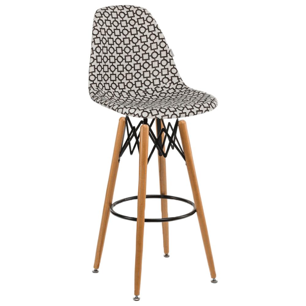 Стул барный Tilia Eos-V сиденье с тканью, ножки буковые ARTCLASS 802