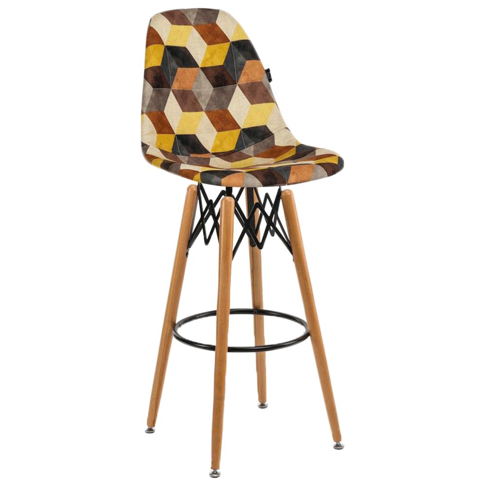 Стул барный Tilia Eos-V сиденье с тканью, ножки буковые SIESTA 301