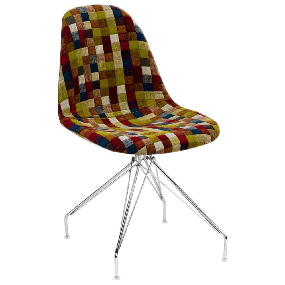 Стул Tilia Eos-X сиденье с тканью, ножки металлические хромированные COLOURBOX 7701