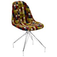 Стул Tilia Eos-X сиденье с тканью, ножки металлические хромированные COLOURBOX 7701, фото 1