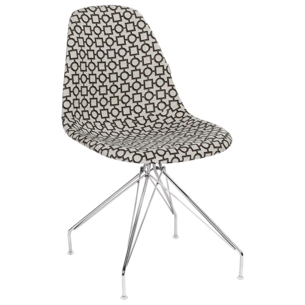 Стул Tilia Eos-X сиденье с тканью, ножки металлические хромированные ARTCLASS 802
