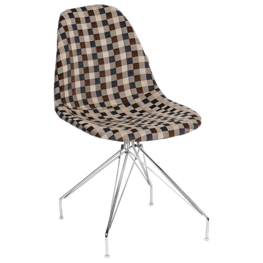 Стілець Tilia Eos-X сидіння з тканиною, ніжки металеві хромовані ARTNUVO 46904 - V5