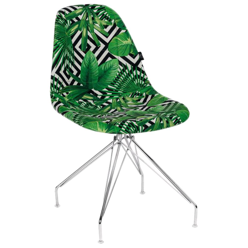 Стілець Tilia Eos-X сидіння з тканиною, ніжки металеві хромовані VOKATO