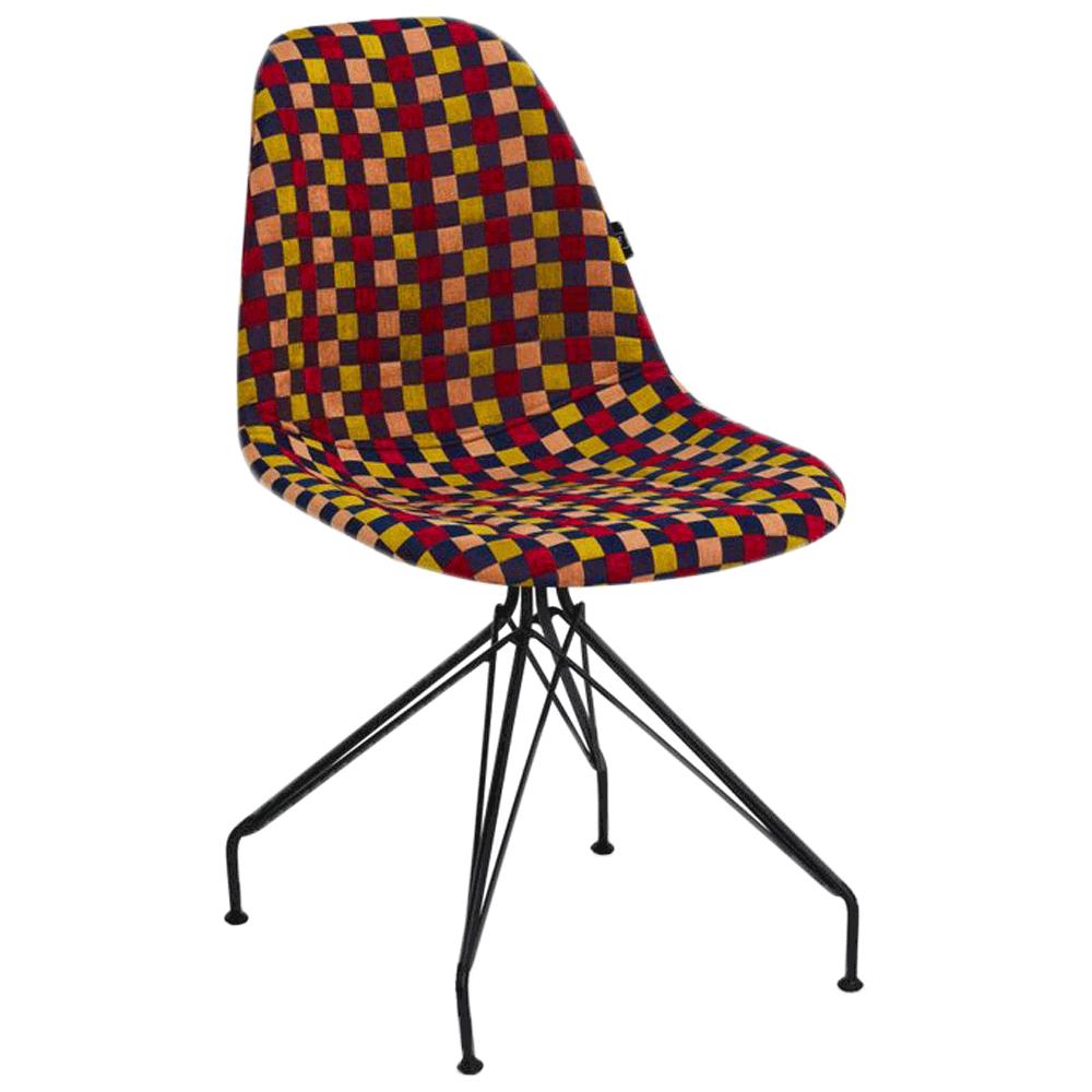Стул Tilia Eos-X сиденье с тканью, ножки металлические крашеные ARTNUVO 46904 - V6