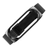 Металлический браслет чёрный black для фитнес трекера Xiaomi mi band 5 ремешок аксессуар замена, фото 3