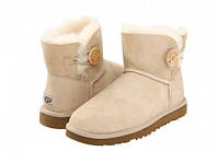 Угги женские UGG Mini Bailey Button Sand (реплика)
