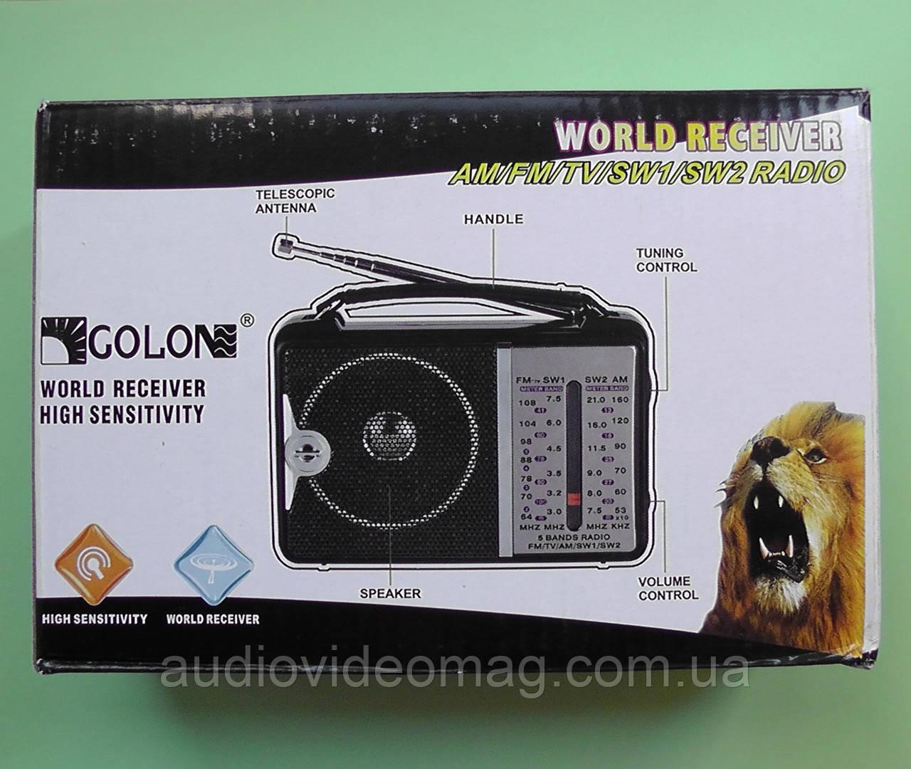 Радиоприёмник всеволновой RX-606AC FM(УКВ), TV, AM, SW1, SW2.