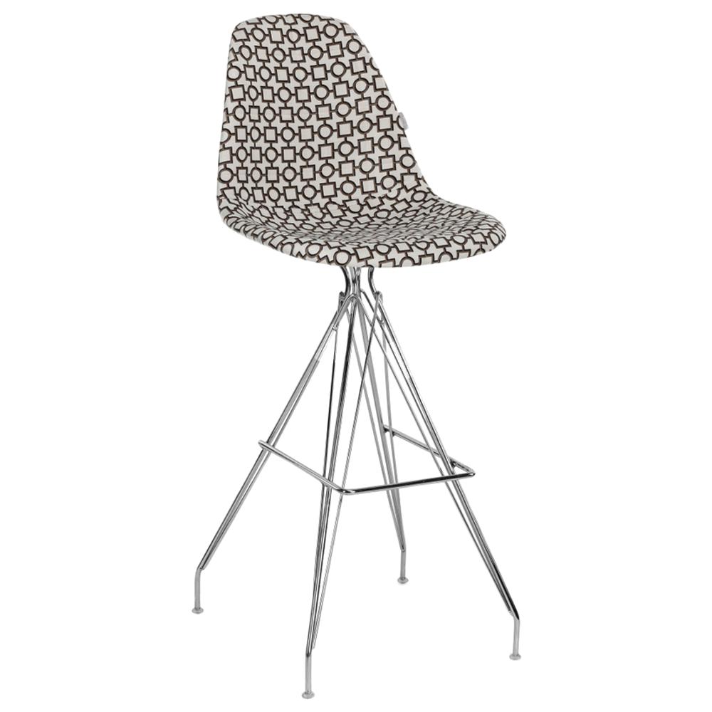 Стул барный Tilia Eos-X сиденье с тканью, ножки металлические хромированные ARTCLASS 802