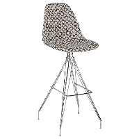 Стул барный Tilia Eos-X сиденье с тканью, ножки металлические хромированные ARTCLASS 802, фото 1