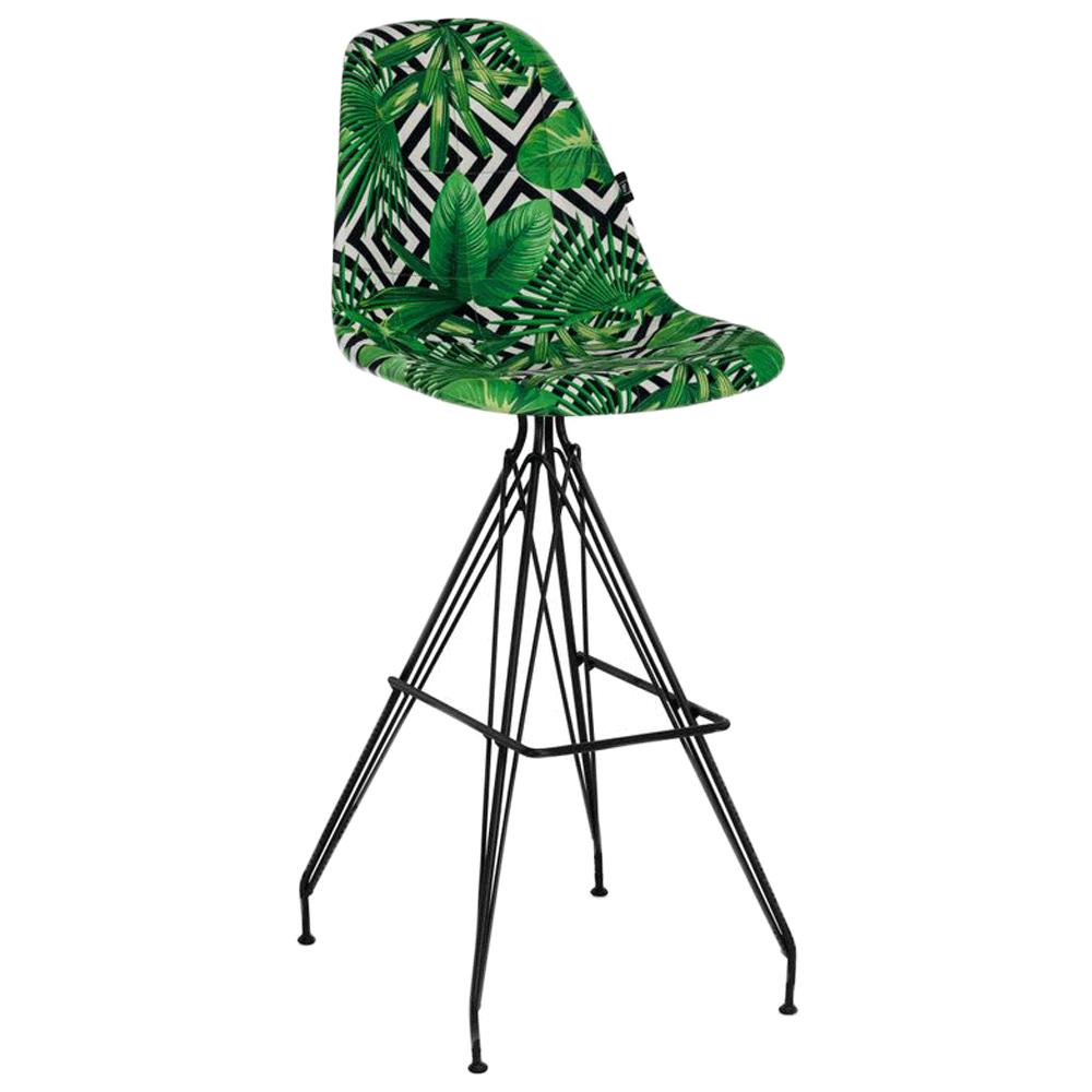 Стілець барний Tilia Eos-X сидіння з тканиною, ніжки металеві фарбовані VOKATO