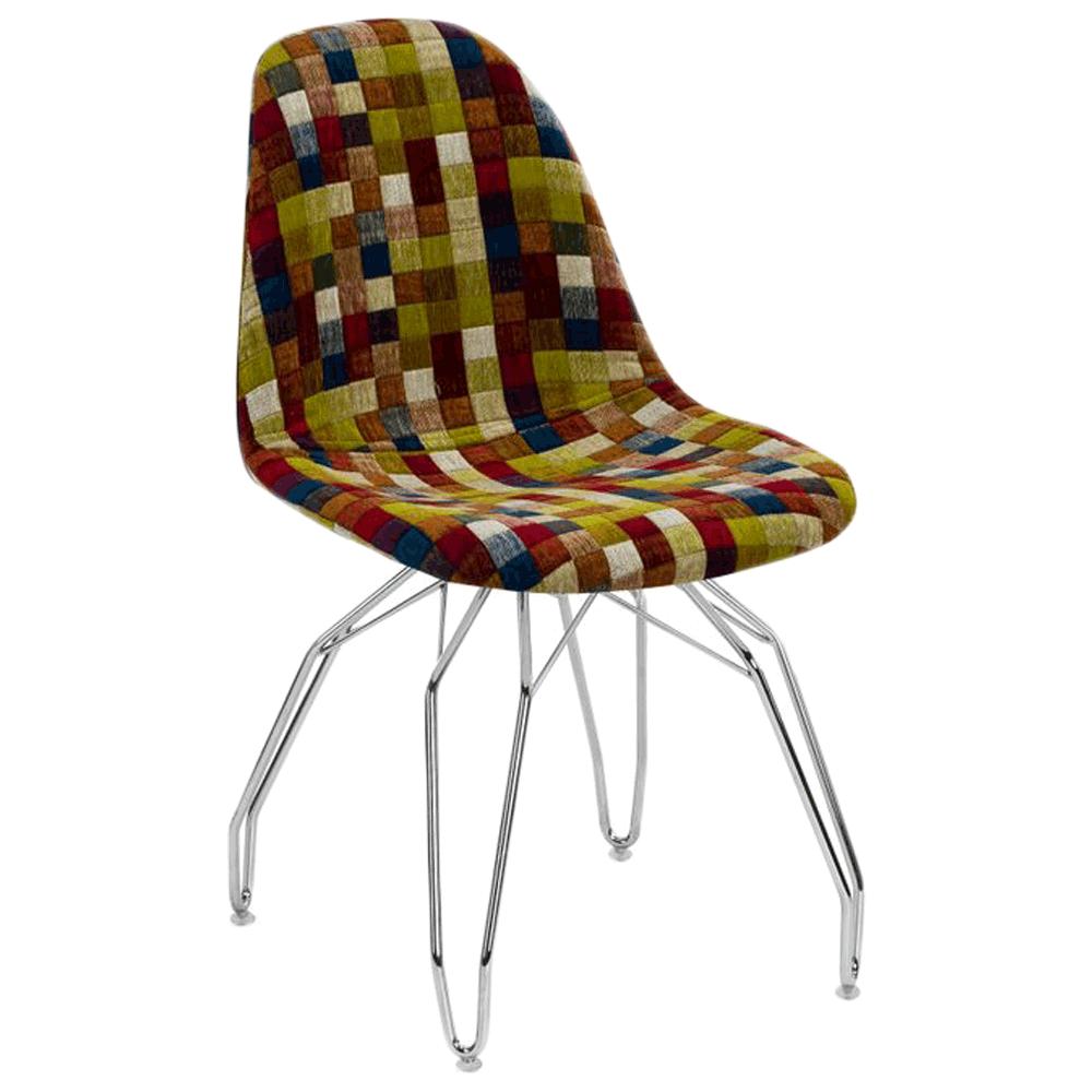 Стул Tilia Eos-M сиденье с тканью, ножки металлические хромированные COLOURBOX 7701