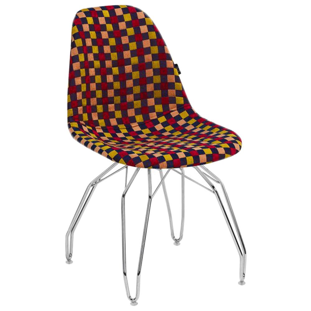 Стул Tilia Eos-M сиденье с тканью, ножки металлические хромированные ARTNUVO 46904 - V6