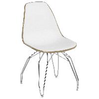 Стул Tilia Eos-M ножки металлические хромированные кофейный - белая слоновая кость, фото 1