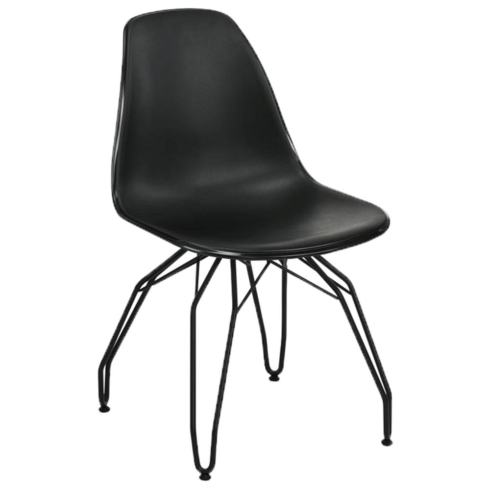 Стул Tilia Eos-M ножки металлические крашеные черный - черный