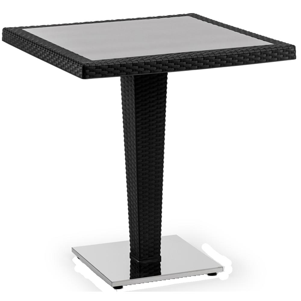 Стол Tilia Antares 70x70 см база хромированная черный