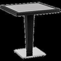 Стол Tilia Antares 70x70 см база хромированная черный, фото 1