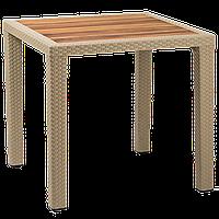 Стол Tilia Antares 80x80 см столешница ироко, ножки пластиковые кофейный, фото 1