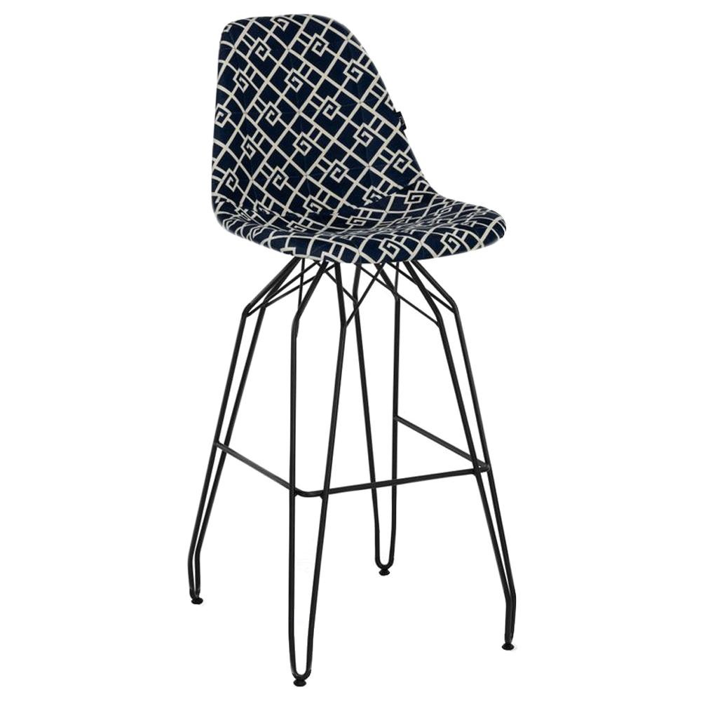 Стул барный Tilia Eos-M сиденье с тканью, ножки металлические крашеные ARTCLASS 805
