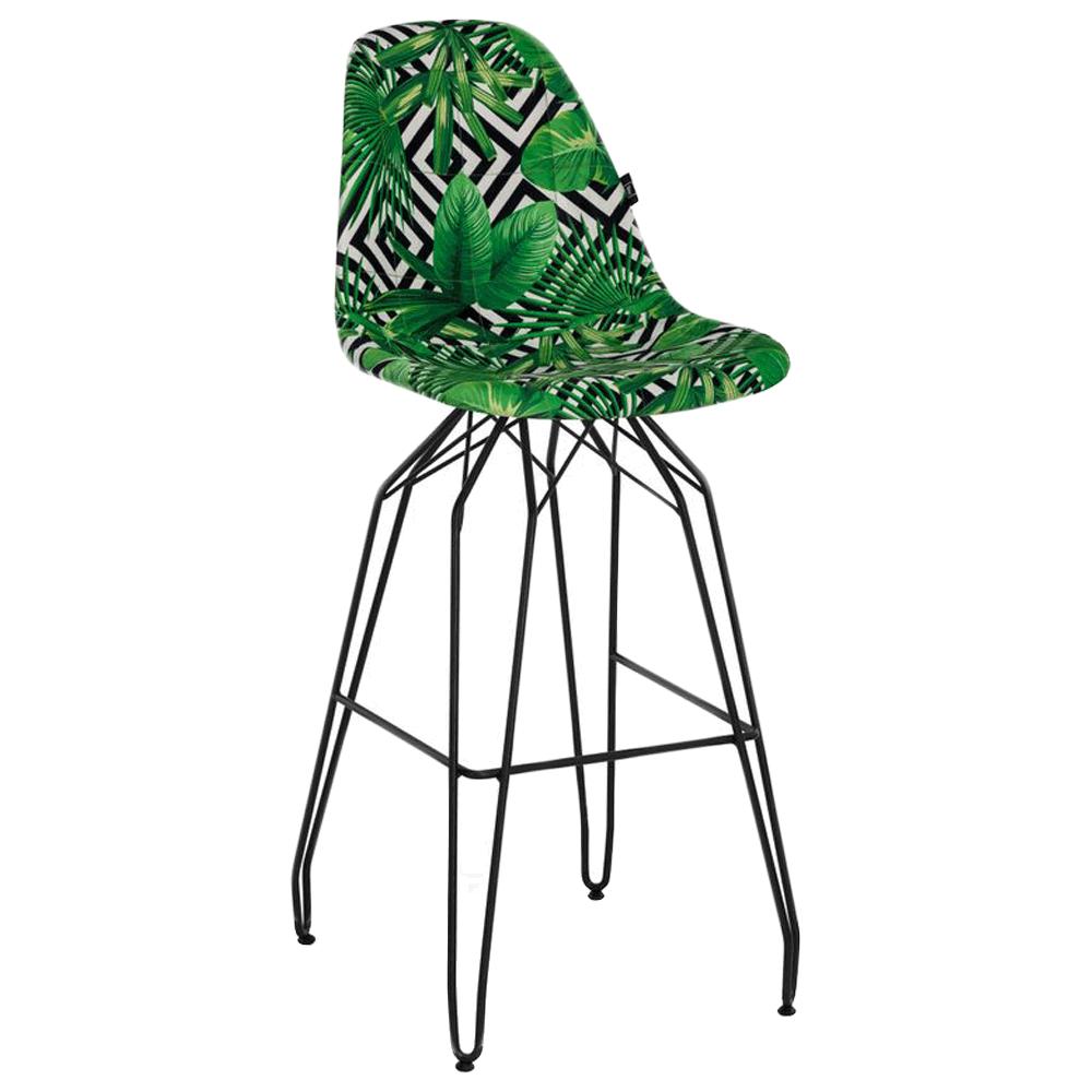 Стул барный Tilia Eos-M сиденье с тканью, ножки металлические крашеные VOKATO