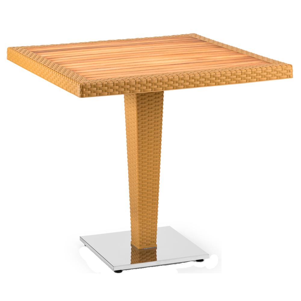 Стол Tilia Antares 80x80 см столешница ироко, база хромированная цвет дерево