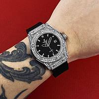 Женские серебряныечасы Hublot Geneve classic Silver, срібний жіночий годинник Хублот