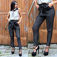 Женские темно-серые брюки с завышенной талией, фото 1
