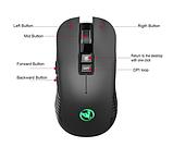 Безшумна бездротова миша SeenDa T30 2.4 G на акумуляторі 750mA 3600DPI для ПК і ноутбук, фото 2