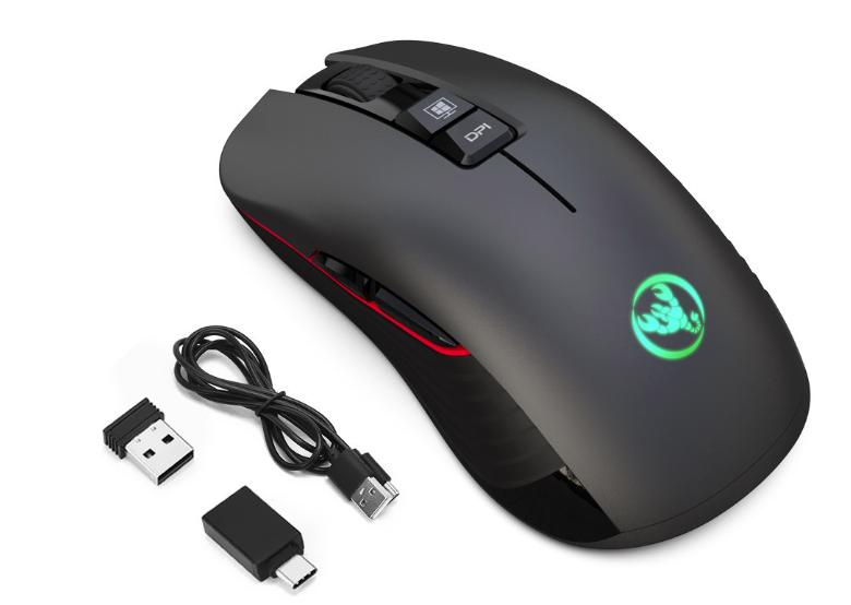 Безшумна бездротова миша SeenDa T30 2.4 G на акумуляторі 750mA 3600DPI для ПК і ноутбук