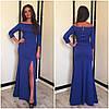 Платье с открытыми плечами и длинным разрезом (разные цвета), фото 3