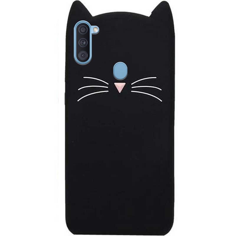 Силиконовая накладка 3D Cat для Samsung Galaxy A11