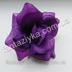 Головка садовой розы 8см, темно-фиолетовая