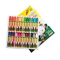 Масляная пастель для тонировки фоамирана, в наборе 24 цветов