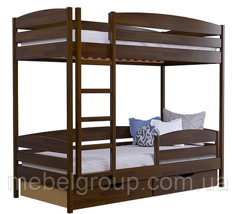Двухъярусная кровать Дует Плюс Щит, с ящиками ДСП + защитный бортик, фото 2