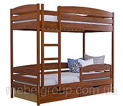 Двоярусне ліжко Дует Плюс Щит, з ящиками ДСП + захисний бортик, фото 3