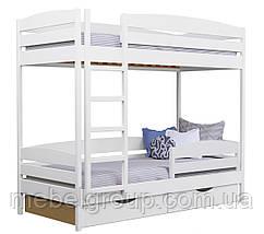 Двоярусне ліжко Дует Плюс Щит, з ящиками ДСП + захисний бортик, фото 2